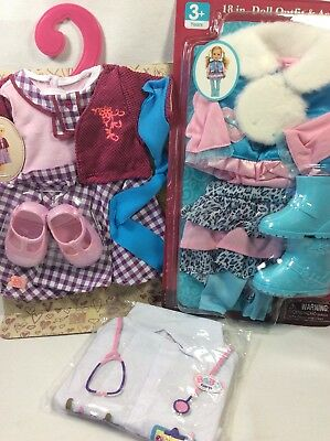 "Lot Of 18"" Inch Doll Clothes Outfits Shoes Fits Our Generation /American Girl"
