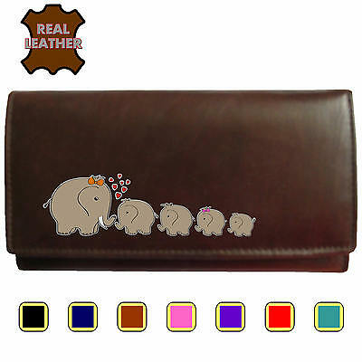 Elephant Family Klassek Real Leather Womans Purse Wallet 4 Calfs Sons Daughter