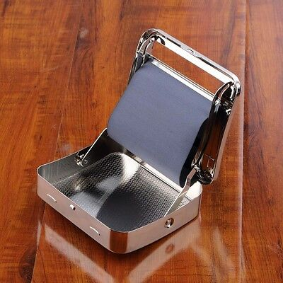 NEW Metal Automatic Cigarette Tobacco Roller Roll Rolling Machine Box Case TinS7