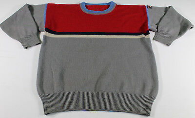 Fila Maglione Maglioncino Lana Sweater Wool Red Rosso Vintage