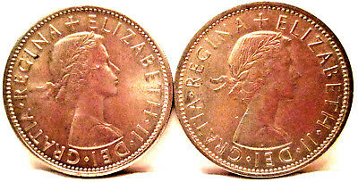 Two (2) Coins - 1963 And 1964 Great Britain Two Shilling Coins