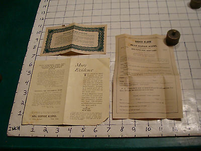 boob medicine--- MLLE SOPHIE KOPEL papers 503 FIFTH AVE, NEW YORK papers  1920's