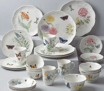 Lenox Butterfly Meadow 28-piece Dinnerware Set Service for 4 NEW FREE SHIP