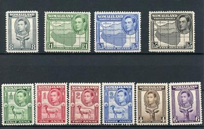 Somaliland 1938 short set to 5r SG93/104 (exc 12a and 2r) MM cat £128