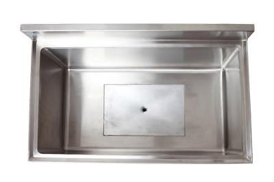 """18"""" x 36"""" Stainless Steel Ice Chest with Cold Plate"""