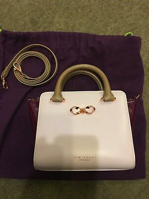 9f8e0ff8a New Genuine Ted Baker Pale Pink Purple Pamena Leather Shoulder Tote Bag £149