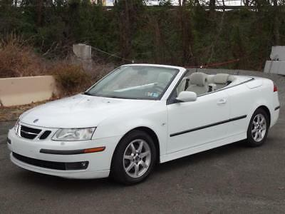 2007 Saab 9-3 2.0T TURBO CONVERTIBLE CABRIOLET 2DR COUPE 72K Mls LEATHER HEATED/MEMO SEATS BLUETOOTH CD-PLAYER KEYLESS ENTRY OWNER'S MANUALS