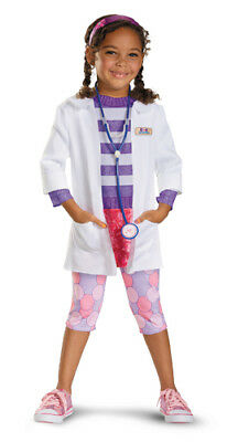 Toddler Doc McStuffins Deluxe Halloween Costume size Large 4-6x