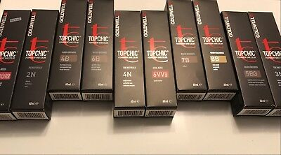 Goldwell Topchic Permanent Hair Colors 60ml Tubes NEW