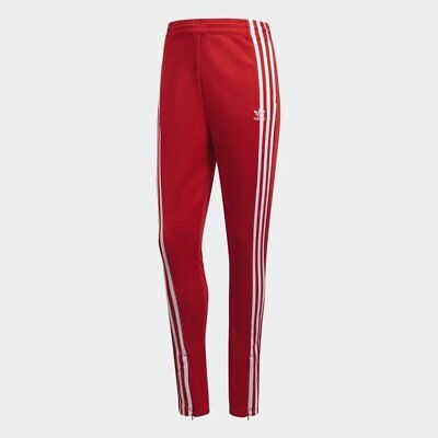 4bc67680b538c WOMEN'S ADIDAS ORIGINALS 3-Stripes Track Pants Red/White [z] DH2716