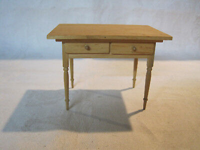 Miniature 1:12 scale dollhouse hand made A. Schilling artisan kitchen table