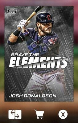 2018 BRAVE THE ELEMENTS OFFSEASON JOSH DONALDSON Topps Bunt Digital Card
