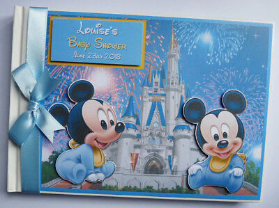 Personalised Disney Baby Mickey Baby Shower / Birthday Guest Book - Any Design
