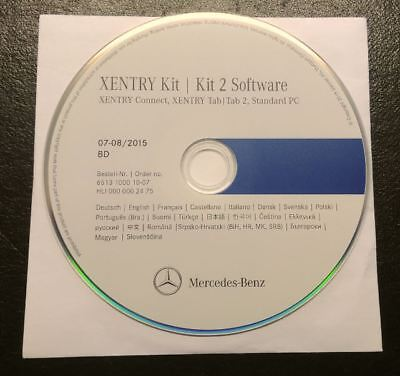 Mercedes STAR Diagnosis XENRTY Kit | Kit 2 Software 08 /2015 XENTRY Tab 2