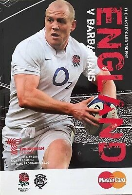 ENGLAND v BARBARIANS 2010 RUGBY PROGRAMME The MasterCard Trophy, Mike Tindell
