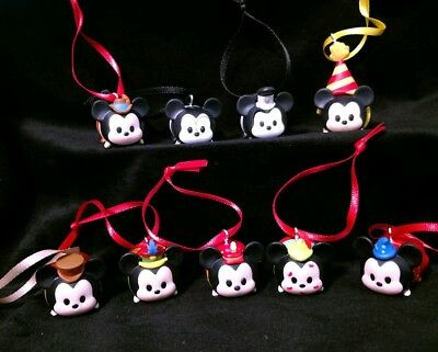 Disney Mickey Mouse 90 Year Anniversary Tsum Tsum Christmas Ornament Collection