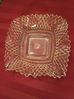 "VINTAGE 6.5"" BACCARAT GLASS CRYSTAL NUT CANDY DISH BOWL circa 1946"