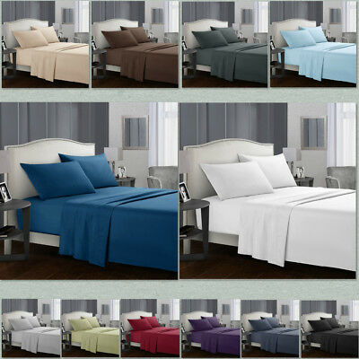 Egyptian Comfort 1800 Count 4 Piece Deep Pocket Bed Sheet Set King Size