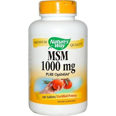 3 x MSM, Pure OptiMSM, 1000 mg, 200 Tablets(600 tabs in total)