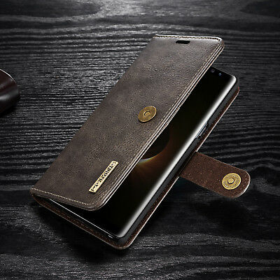 Luxury Removable Leather Wallet Card Stand Case Cover For Samsung S9+ Note 8 S7