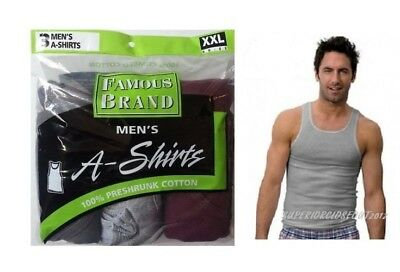 """Fruit of the Loom® BIG MEN/'S 4//8 PACK Multicolor A-SHIRTS /"""" Cotton /& Tagless /"""""""