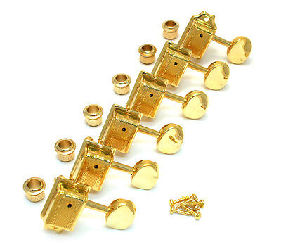 Wilkinson Deluxe 6 Inline Gold Vintage Tuners for Fender Strat/Tele® WJ-55-6G