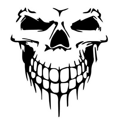 3D Funny Auto Car Stickers Skull Reflective Marks Headlight Decal For Car Window