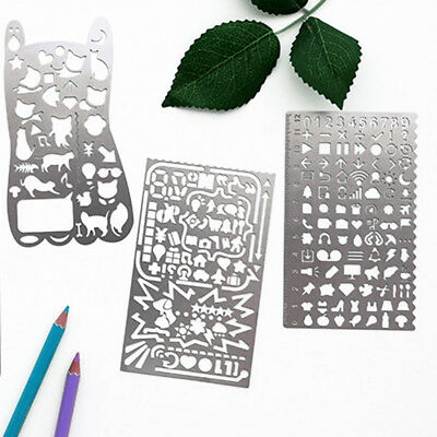 Stainless Steel Hollow Drawing Ruler Planner Stencils Painting Scale Template