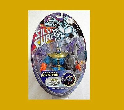 Silver Surfer Cosmic Power Thanos From Toy-Biz Rare Moc Infinity Gauntlet!!
