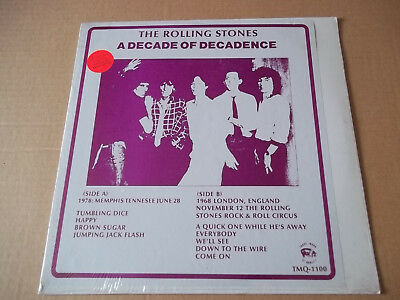 Rolling Stones - A Decade of Decadence (1978)  shocking pink vinyl LP SEALED