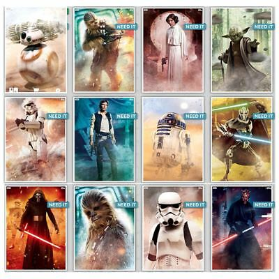 FIGHT FOR THE GALAXY COMPLETE SET OF 12 CARDS Topps Star Wars Trader Digital