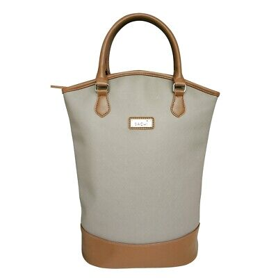 Sachi Insulated Two Bottle Wine Tote Taupe Brand New
