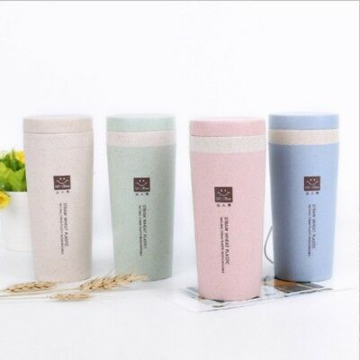 Cute Leakproof Double Wall Insulated Coffee Cup Travel Mug Water Bottle 300ML