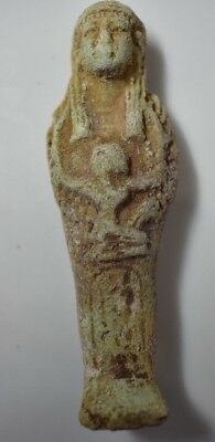 Rare Ancient Egypt Egyptian Antique faience USHABTI  j 600-300B