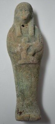 Rare Ancient Egypt Egyptian Antique faience USHABTI  k 600-300B
