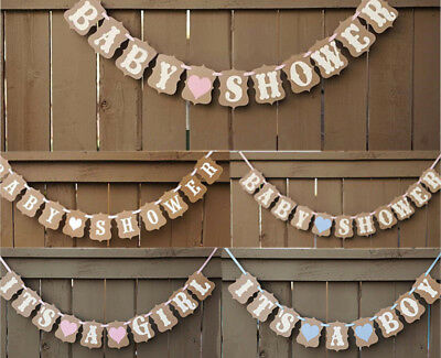 BABY SHOWER It's a Boy Girl BANNER Bunting Garland Photo Props Party Decor