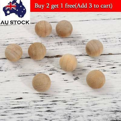 100x Natural Cedar Wood Moth Balls Camphor Repellent Wardrobe Clothes Drawer AU