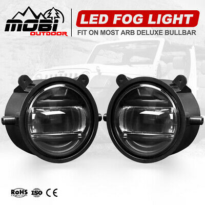 Pair 30W CREE LED Fog Lights For Driving Off Road 4x4 Truck ARB Deluxe Bullbar