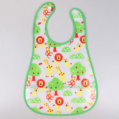 Popular EVA Waterproof Feeding Bibs Baby Cartoon Aprons Kids Feeding Accessories