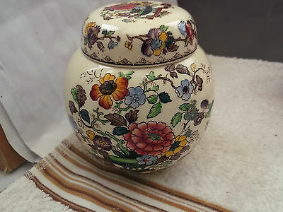 Masons Ginger Jar With A  Floral  Pattern