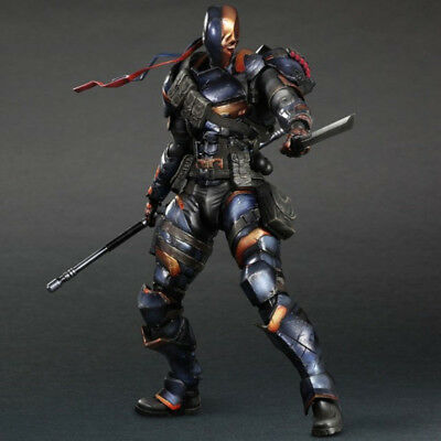 Play Arts Kai Deathstroke Deadpool Arkham Action Figure Model Toy Doll DC Comics