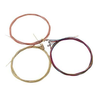 6pcs/Set Colorful Color Steel Rainbow Strings Tunes Stable for Acoustic Guitar F