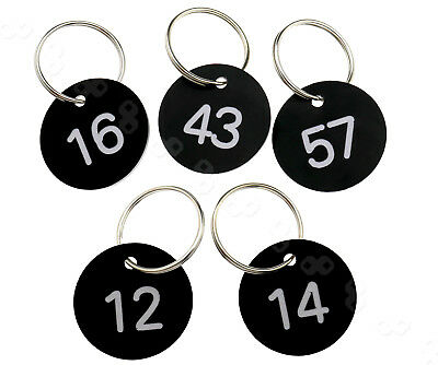 WE 100 x 30mm ABS Engraved Number Discs Club Gym Locker Pub Table Tags Hotels