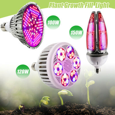 150W 120W LED Grow Light Vollspektrum Innen Veg Flower Pflanzenlampe Gewächshaus