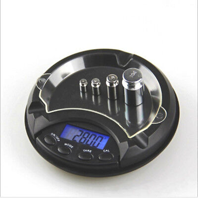 Ashtray Pocket Scale 0.01/0.1g Compact Digital LCD Weigh Electronic Measure UK