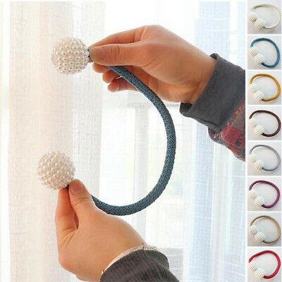 Buckle Magnetic Curtain Clip Straps Tie Back Window Home Decor Bedroom Stylish
