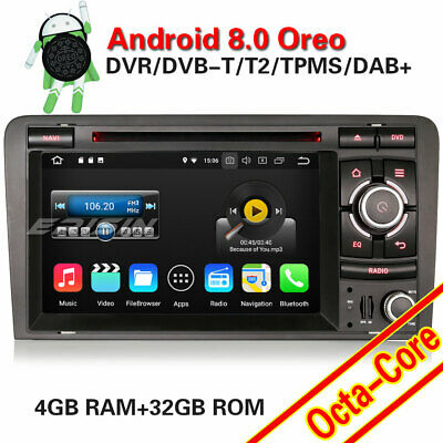 Android 8.0 Autoradio GPS Wifi DAB+BT TNT Wifi CD SWC OBD AUDI A3 S3 RS3 RNSE-PU