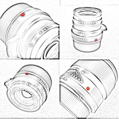 2X Plastic RED DOT for Leica Leitz Summicron Summilux 35mm 50mm M & R #937