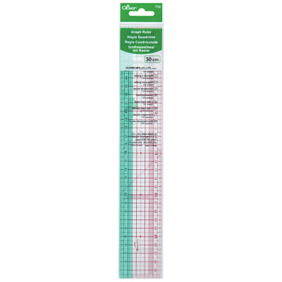 Clover Sewing/Quilting Metric Graph Ruler - 30CM