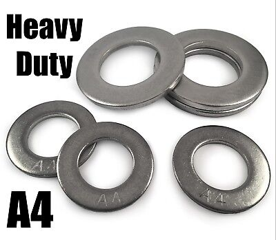 A4 Stainless Steel Form A Large Heavy Duty Washers For Bolts M36 M39 M42 M46 M48